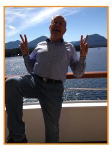 Dad Cruising in Alaska